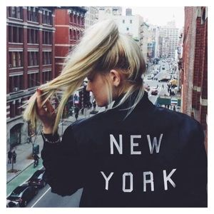 Brandy Melville Elana New York Bomber Jacket